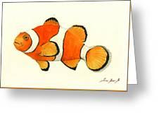 Clown Fish Greeting Card