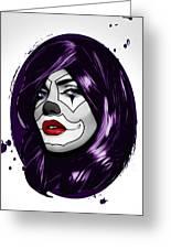 Clown Girl Greeting Card