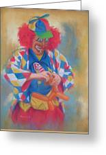 Clown Making Balloon Animals Greeting Card