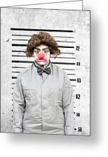 Clown Mug Shot Greeting Card