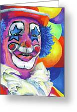 Clown With Balloons Greeting Card