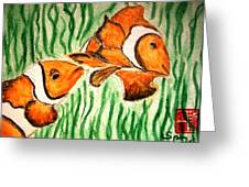 Clowning Fish Greeting Card