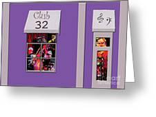 Club 32 Greeting Card