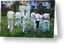 Club Cricket Tea Break Greeting Card