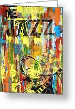 Club De Jazz Greeting Card by Sean Hagan