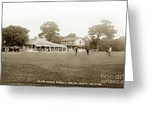 Club House And Golf Links, Old Del Monte, Monterey, California Circa 1920 Greeting Card