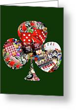 Club Playing Card Shape  Greeting Card