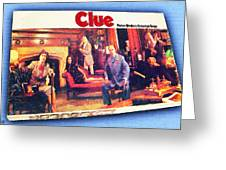 Clue Board Game Painting Greeting Card