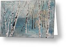 Cluster Of Birches Greeting Card