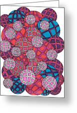 Cluster Of Spheres Greeting Card