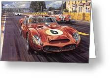 Cma 051 1962 Le Mans Ferrari 330 Driver Phil Hill Roy Rob Greeting Card