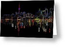 Cn Tower Outline Greeting Card