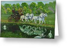Coach And Four In Hand Greeting Card