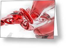 Coagulation Abstract Greeting Card