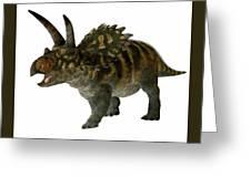 Coahuilaceratops Profile Greeting Card