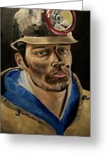 Coal Miner Greeting Card
