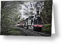 Coal Tank Engine In The Rain Greeting Card