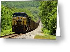 Coal Train Greeting Card