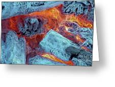 Coals And Embers Greeting Card