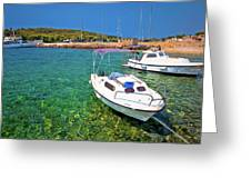 Coast And Beach Of Prvic Island Summer View Greeting Card