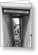Coast - Arguments Yard, Whitby, England Greeting Card