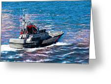 Coast Guard Out To Sea Greeting Card by Aaron Berg