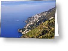Coast Of Amalfi Greeting Card