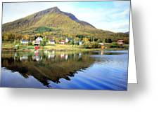 Coast Of Norway Reflections Greeting Card