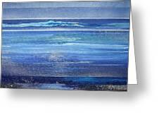 Coast Series Blue Am6 Greeting Card