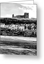 Coast - Whitby Abbey And Church Greeting Card