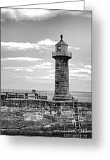 Coast - Whitby Lighthouse Greeting Card