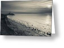 Coast With A Lighthouse Greeting Card