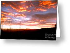 Costa Rican Mountain Valley Sunset Greeting Card