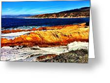 Coastal Abstraction Greeting Card