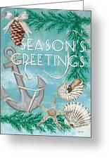 Coastal Christmas Card Greeting Card
