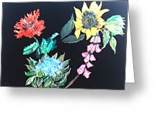 Coastal Floral Greeting Card