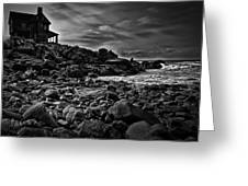 Coastal Home  Kennebunkport Maine Greeting Card