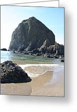 Coastal Landscape - Cannon Beach Afternoon - Scenic Lanscape Greeting Card