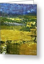 Coastal Marsh View Abstract Greeting Card