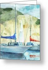Coastal Sails Greeting Card
