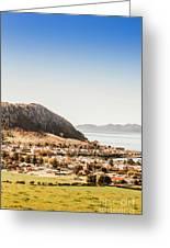 Coastal Tasmanian Town Greeting Card