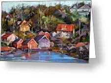 Coastal Village Greeting Card