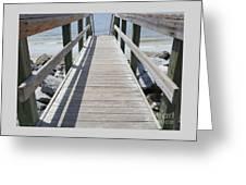 Coastal Walkway Greeting Card