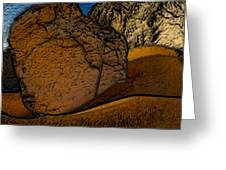 Coast.dunes.rocks Greeting Card