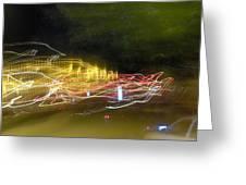 Coaster Of Lights Greeting Card