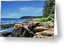 Coastline And Otter Cliff 1 Greeting Card