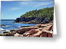 Coastline And Otter Cliff 3 Greeting Card