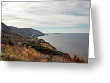 Coastline At Cape Breton Highlands National Park, Nova Scotia, C Greeting Card