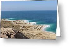 Coastline In The Desert Greeting Card