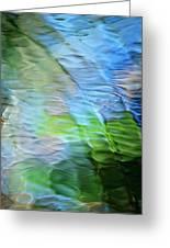 Coastline Mosaic Abstract Art Greeting Card